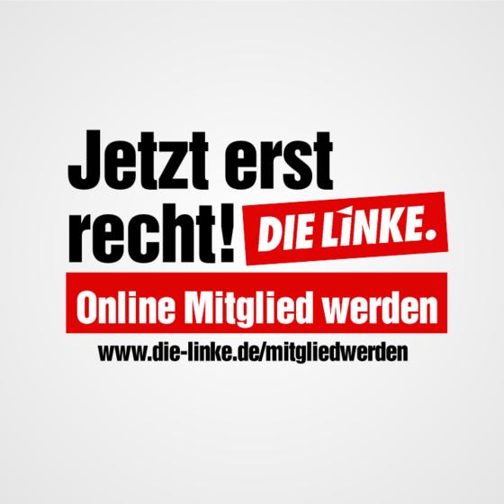 Online Mitglied werden - Link auf die Homepage der Bundespartei DIE LINKE