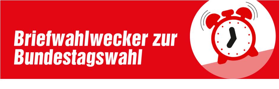Briefwahlwecker der LINKEN zur Bundestagswahl